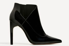 Zara high heel patent ankle boots