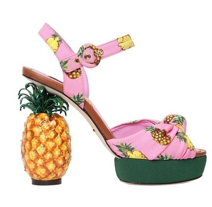 Pineapple pumps by Dolce & Gabanna