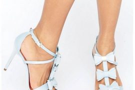 Ted Baker Appolini Light Blue Bow Heeled Sandals