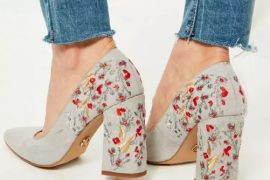 Embroidered heeled pumps from Missguided