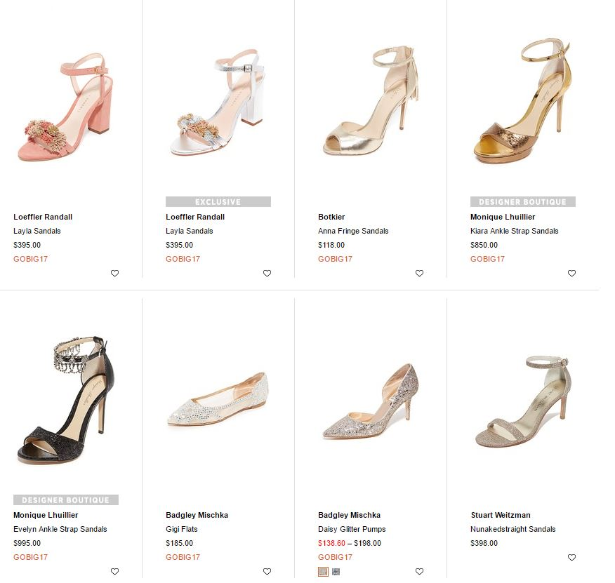 shoes in the Shopbop sale