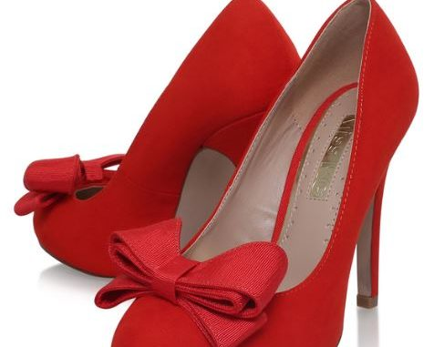 Miss KG 'Gem' red bow front high heels