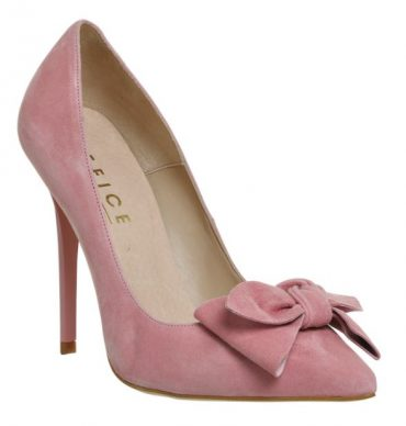 Office 'Hey Girl' pink bow court shoes