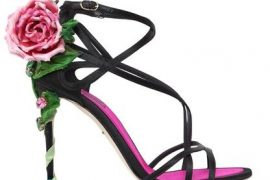 Dolce & Gabanna 'Keira' rose satin sandals