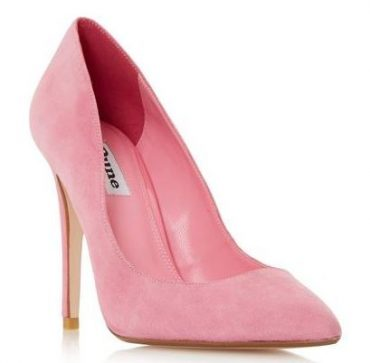 pink high heeled court shoes