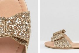 ASOS FAIR LADY Wide Fit Bow Flat Sandals