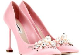 pink miu miu court shoes