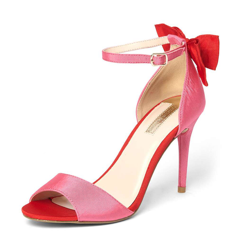 Dorothy Perkins pink and red satin bow