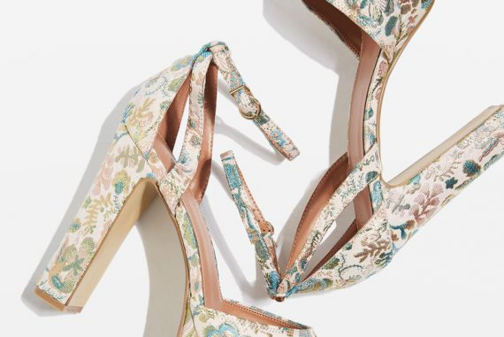 Topshop 'Margot' Jacquard Heeled Platforms