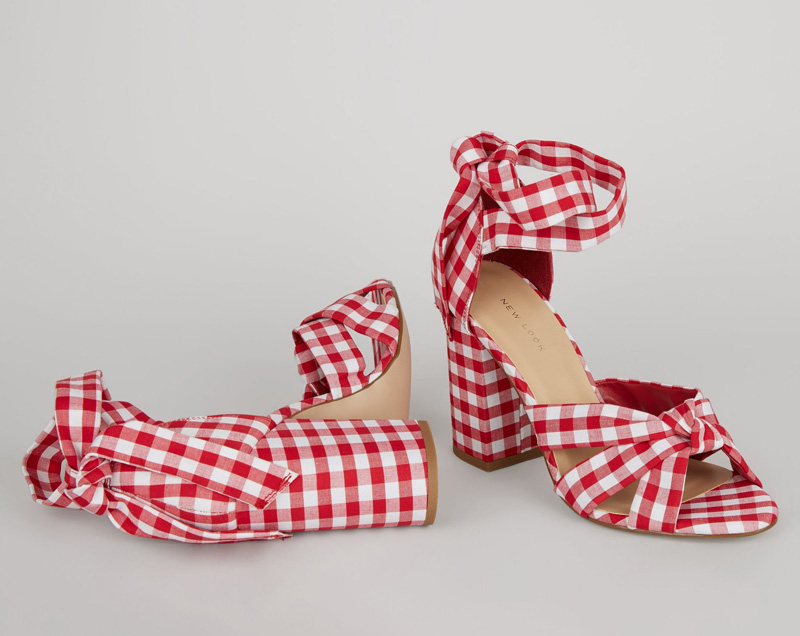 New Look red gingham sandals