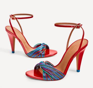 Zara multi strap high heeled sandals