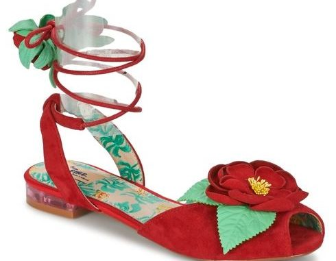 Miss L fire red strappy sandals