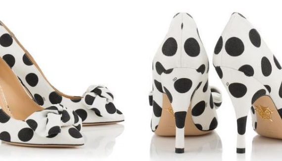"Charlotte Olympia ""Etta"" polka dot bow shoes"