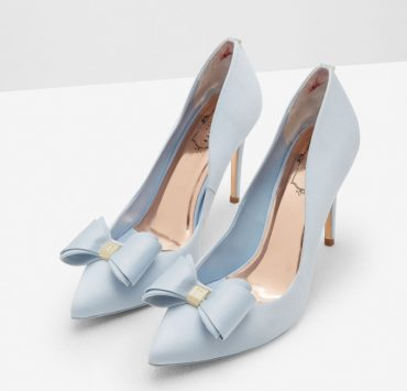 Ted Baker Azeline bow-detail satin court shoes