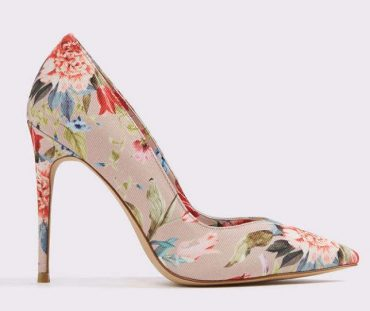 floral print court shoes