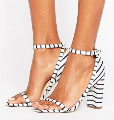 Office 'Stripes' barely there sandals