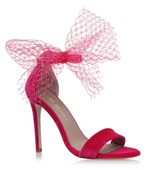 Kurt Gieger pink Suzette sandals with tulle trim