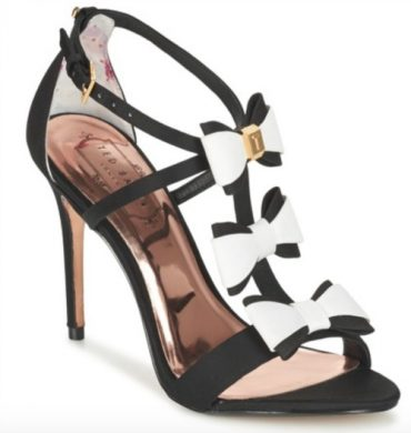 Ted Baker black and white 'Appolini' sandals