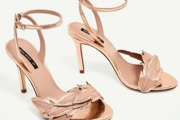 Zara high heel sandals with leaf detail