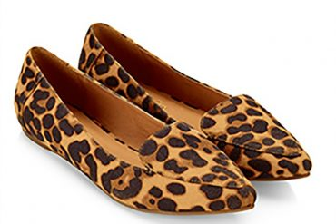 Accessorize 'Cameron' leopard print pointed loafers