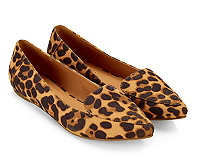 107de277d25 Accessorize  Cameron  leopard print pointed loafers   Shoeperwoman