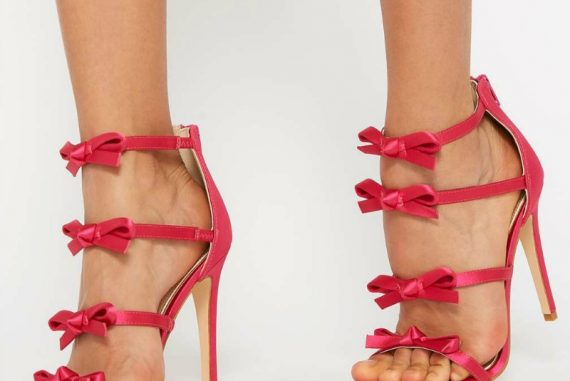 Miss Selfridge 'Cherub' bow strap sandals