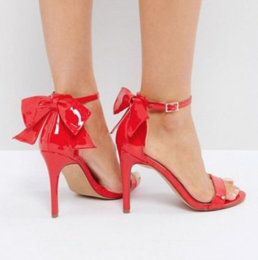 ASOS Heatwave Barely There Heeled Sandals With Bow