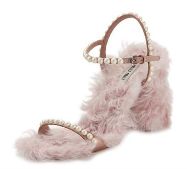 furry Miu Miu shoes
