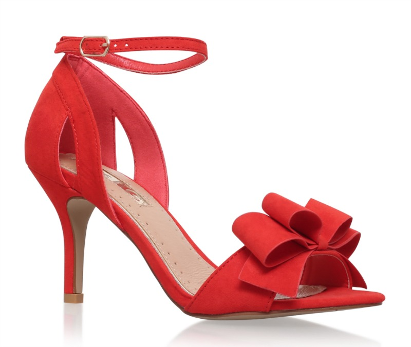 Miss KG  'Caiden' red mid-heeled sandals