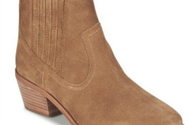 tan suede ankle boots by Dune