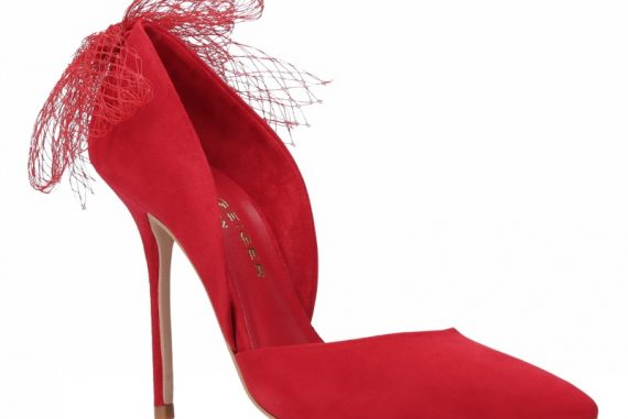 Kurt Geiger 'Sadie' red high heel court shoes