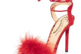 red shoes by Charlotte Olympia
