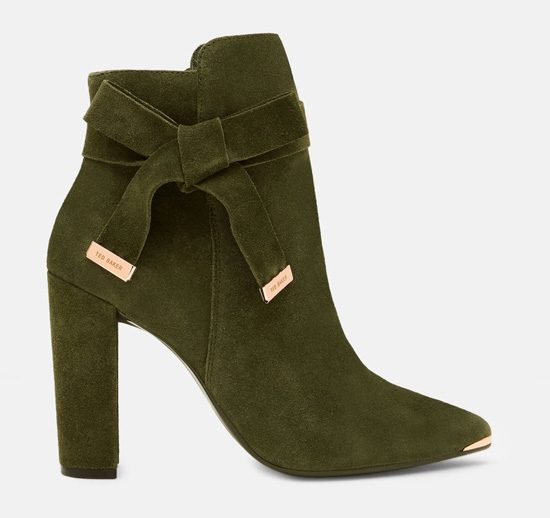 dbaa370b5 Beautiful green ankle boots by Ted Baker   Shoeperwoman