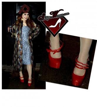 Paloma Faith's red shoes