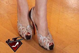 Dita Von Teese in Christian Louboutin shoes