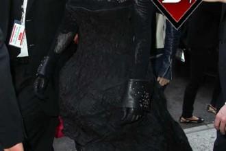 lady gaga heelless boots