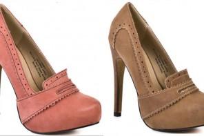 high heeled brogue shoes