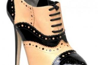 Black and tan brogue shoe boots