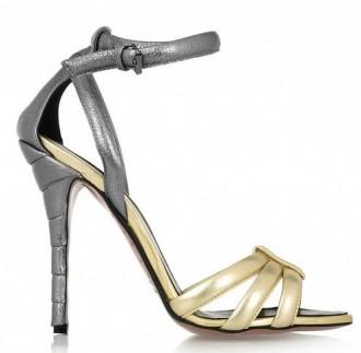 Vionnet two tone metallic sandals