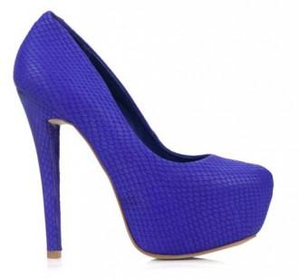 Blue platform shoes by Studio TMLS