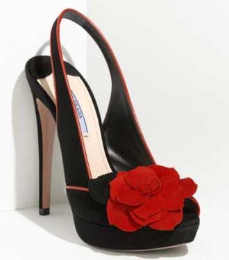 Prada rosette trim platform sandals