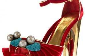 Topshop Lillie red cherry trim sandals