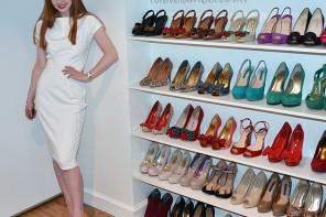white dress yellow shoes