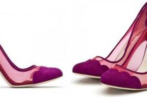 purple mesh shoes