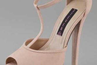 blush t-strap platform sandals