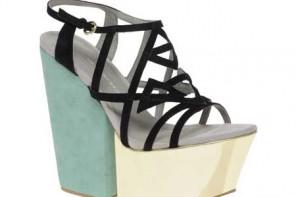 KG Harry Mega Wedge Colourblock Sandals
