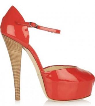 red peep toes