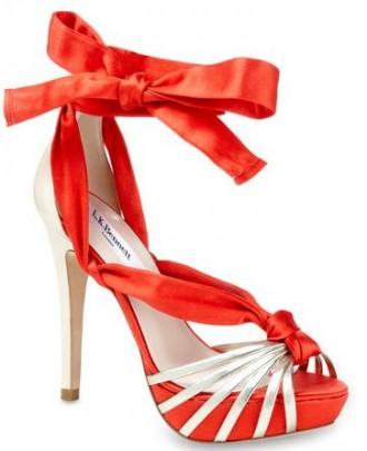 orange 'Romance' sandals