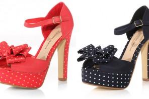 polka dot platform shoes