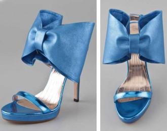 Viktor & Rolf blue bow sandals
